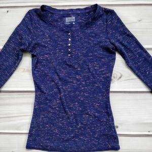 Outdoor Research Blue Heather 3/4 Sleeve Henley